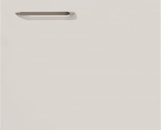 Немецкая кухонная мебель Nobilia без ручек и с черной с линией акцента